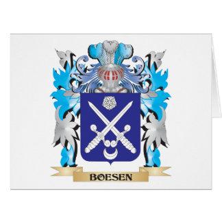 Escudo de armas de Boesen Felicitacion