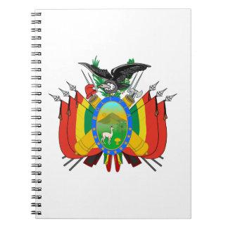 Escudo de armas de Bolivia Libros De Apuntes Con Espiral
