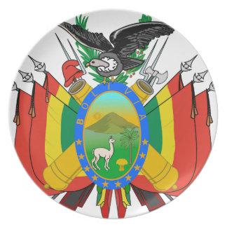 Escudo de armas de Bolivia Plato De Cena
