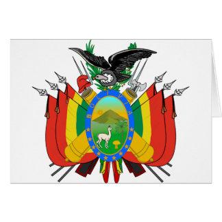 Escudo de armas de Bolivia Tarjetas