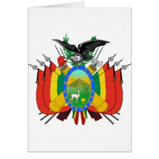 Escudo de armas de Bolivia Tarjeta