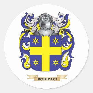 Escudo de armas de Bonifaci (escudo de la familia) Pegatina Redonda