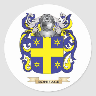 Escudo de armas de Bonifacio (escudo de la Pegatina Redonda