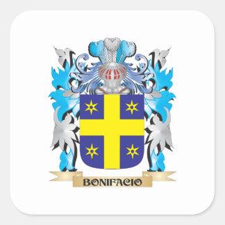 Escudo de armas de Bonifacio Calcomanías Cuadradas