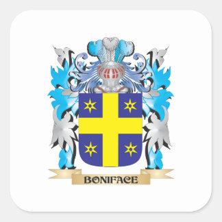 Escudo de armas de Bonifacio Colcomanias Cuadradas