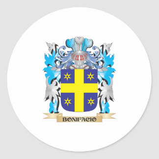 Escudo de armas de Bonifacio Etiqueta Redonda