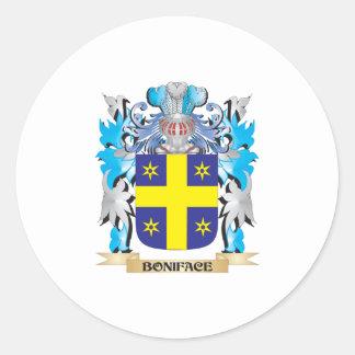 Escudo de armas de Bonifacio Pegatinas Redondas