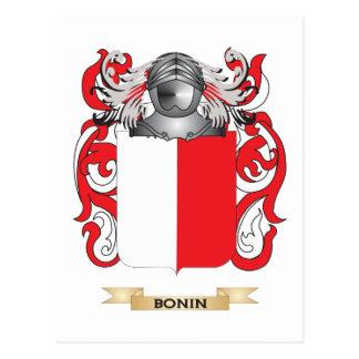 Escudo de armas de Bonin (escudo de la familia) Postal
