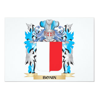 Escudo de armas de Bonin Invitación 12,7 X 17,8 Cm
