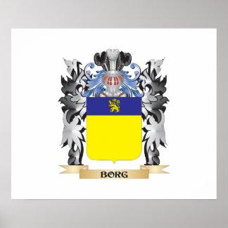 Escudo de armas de Borg - escudo de la familia Póster