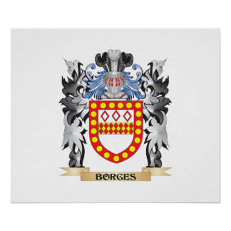 Escudo de armas de Borges - escudo de la familia Póster