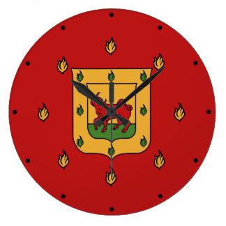 Escudo de armas de Borgia Reloj Redondo Grande