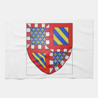 Escudo de armas de Borgoña Francia Toalla De Cocina