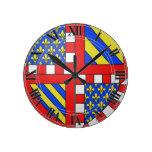 Escudo de armas de Borgoña (Francia) Relojes De Pared