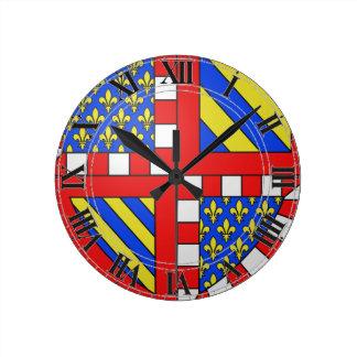 Escudo de armas de Borgoña Francia Relojes De Pared