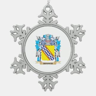 Escudo de armas de Borman Adorno De Peltre En Forma De Copo De Nieve