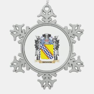 Escudo de armas de Borman - escudo de la familia Adorno De Peltre En Forma De Copo De Nieve