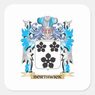 Escudo de armas de Borthwick Calcomanía Cuadradas