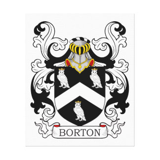 Escudo de armas de Borton Impresiones En Lona Estiradas
