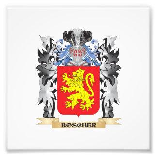 Escudo de armas de Boscher - escudo de la familia Fotografía