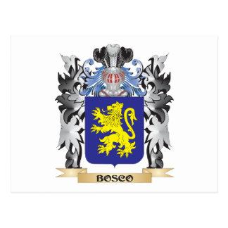 Escudo de armas de Bosco - escudo de la familia Tarjetas Postales