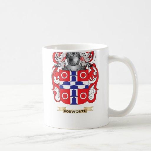 Escudo de armas de Bosworth (escudo de la familia) Taza Básica Blanca