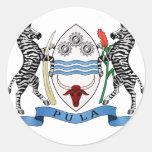 Escudo de armas de Botswana Etiquetas Redondas