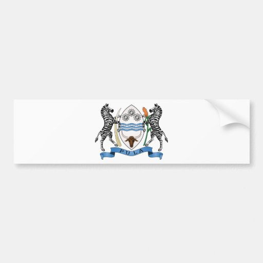 Escudo de armas de Botswana Pegatina Para Auto