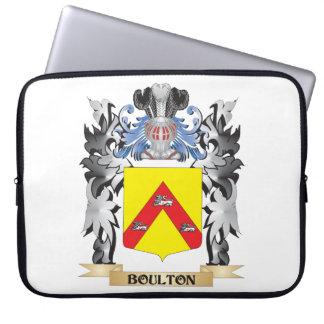 Escudo de armas de Boulton - escudo de la familia Fundas Computadoras