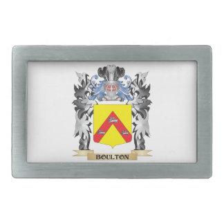 Escudo de armas de Boulton - escudo de la familia Hebillas Cinturón Rectangulares