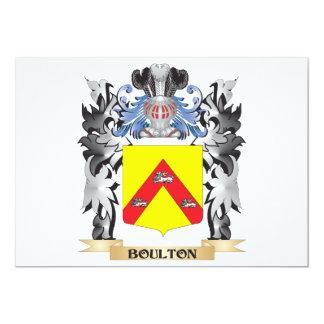 """Escudo de armas de Boulton - escudo de la familia Invitación 5"""" X 7"""""""