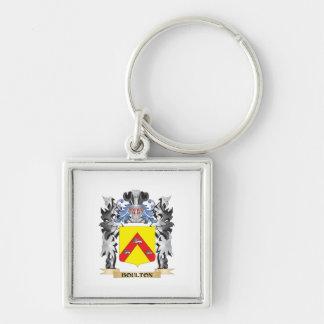 Escudo de armas de Boulton - escudo de la familia Llavero Cuadrado Plateado