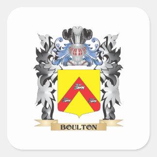 Escudo de armas de Boulton - escudo de la familia Pegatina Cuadrada
