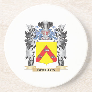 Escudo de armas de Boulton - escudo de la familia Posavasos Manualidades