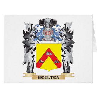 Escudo de armas de Boulton - escudo de la familia Tarjeta De Felicitación Grande
