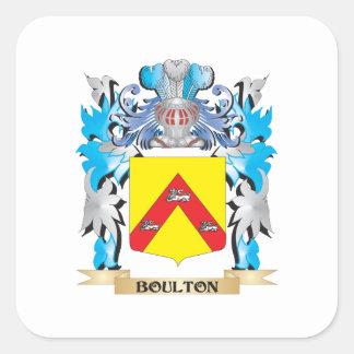Escudo de armas de Boulton Pegatina Cuadrada