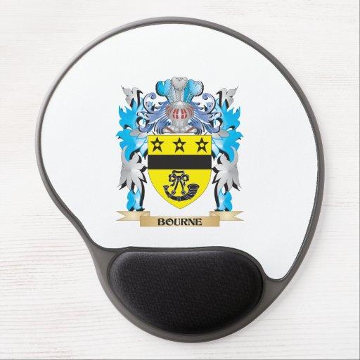 Escudo de armas de Bourne Alfombrillas De Ratón Con Gel