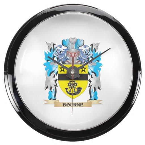 Escudo de armas de Bourne Relojes Aqua Clock