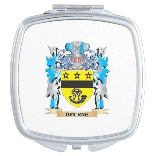 Escudo de armas de Bourne Espejo Para El Bolso