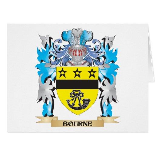 Escudo de armas de Bourne Tarjetas