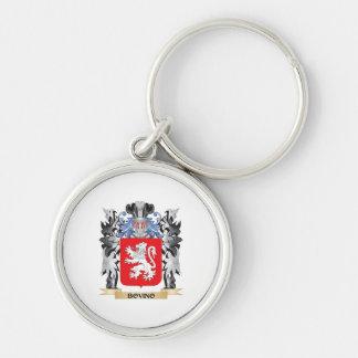 Escudo de armas de Bovino - escudo de la familia Llavero Redondo Plateado
