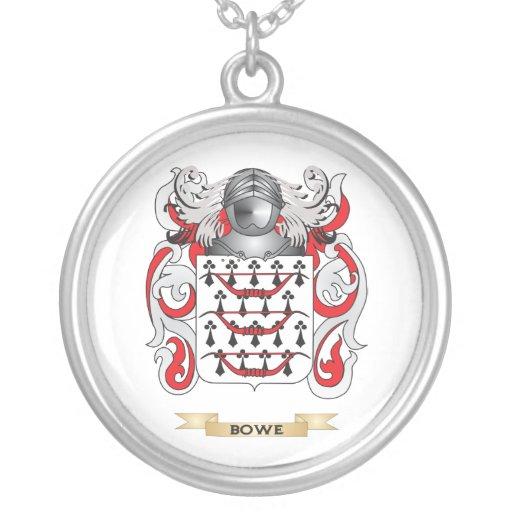 Escudo de armas de Bowe (escudo de la familia) Colgante Redondo