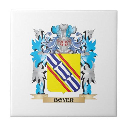Escudo de armas de Boyer Azulejo Cuadrado Pequeño