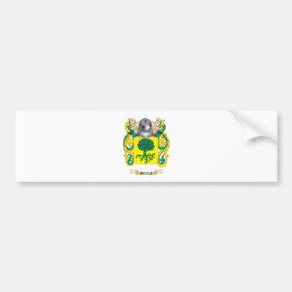 Escudo de armas de Boyle (escudo de la familia) Pegatina De Parachoque