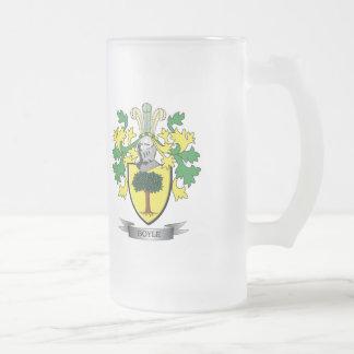 Escudo de armas de Boyle Taza De Cristal