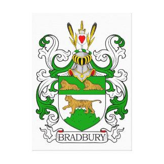 Escudo de armas de Bradbury Lienzo Envuelto Para Galerías