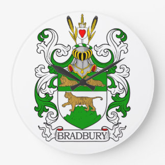 Escudo de armas de Bradbury Relojes De Pared