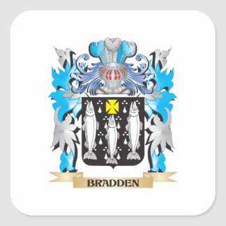 Escudo de armas de Bradden Colcomanias Cuadradas