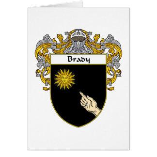 Escudo de armas de Brady (cubierto) Tarjeta De Felicitación
