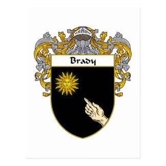 Escudo de armas de Brady (cubierto) Tarjetas Postales